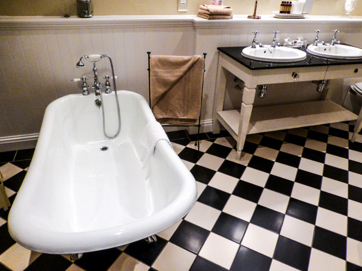 Boutique bathroom in No. 1 Pery Square Hotel in Limerick