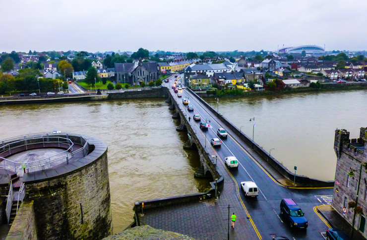 Thomond Bridge in Limerick