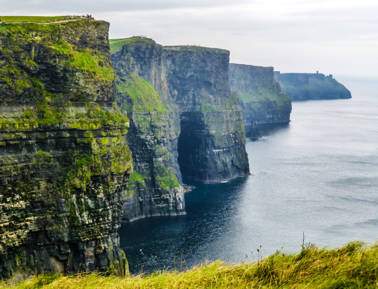 Cliffs of Moher are the main attraction of mid-west Ireland.