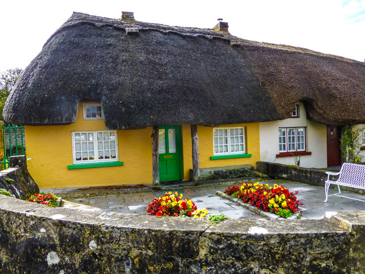 Thatched roof loveliness in Adare, Ireland.