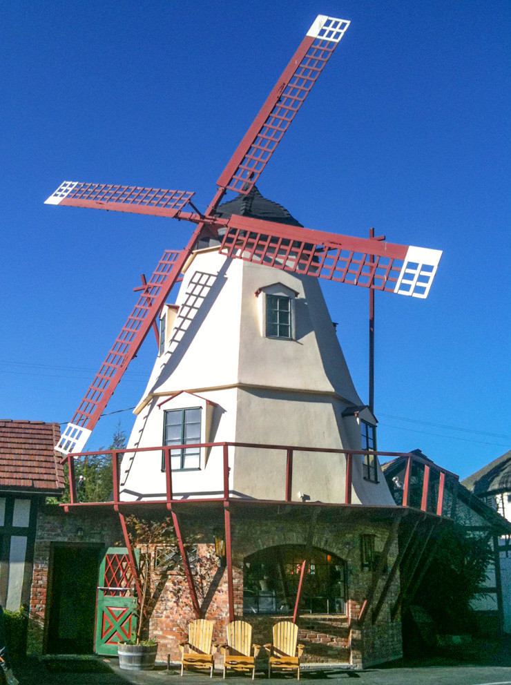 A Danish-inspired windmill in Solvang.