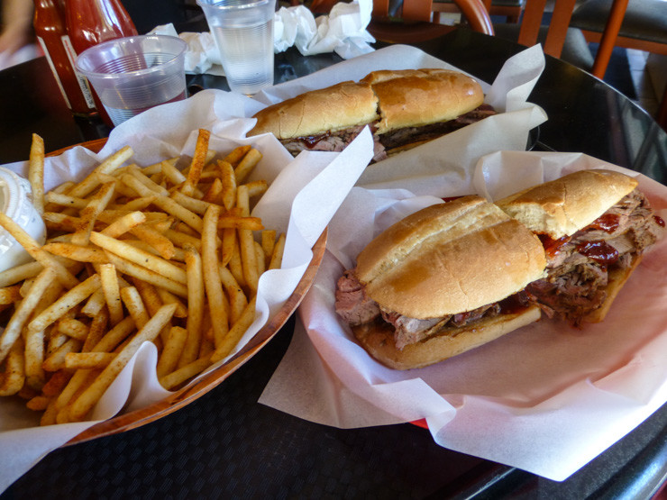 Firestone: Home to what very well may be the best tri-tip sandwich IN THE WORLD, located in San Luis Obispo. The fries are also pretty awesome.