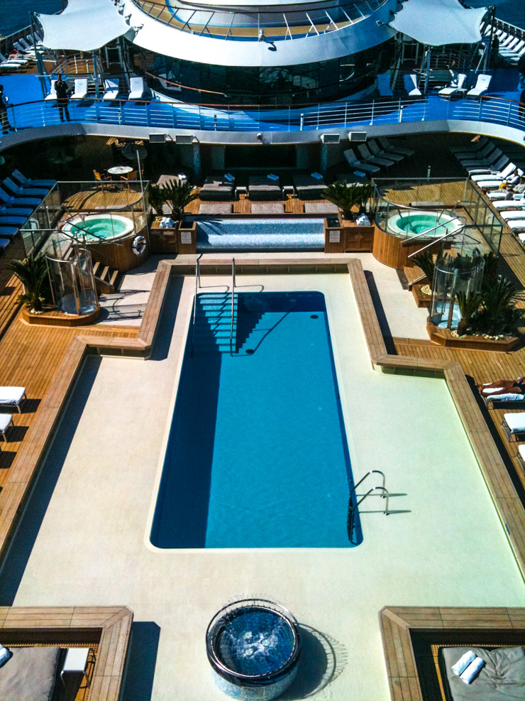 Is the pool area important to you? A travel agent can help you find the best ship for that desire (or whatever interest you have).