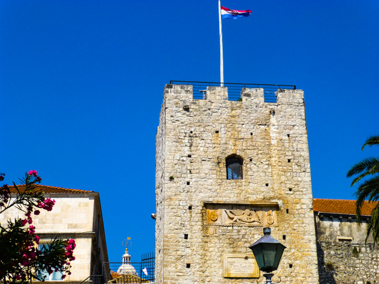Revelin Tower, signifying the entrance to Korcula Town.