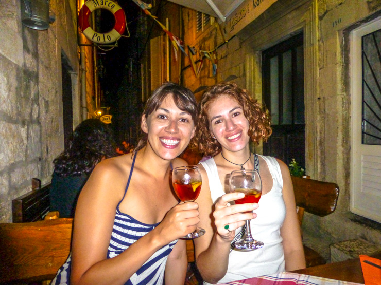 It was a hot night so we also enjoyed the sparkling rose with orange slices in it.