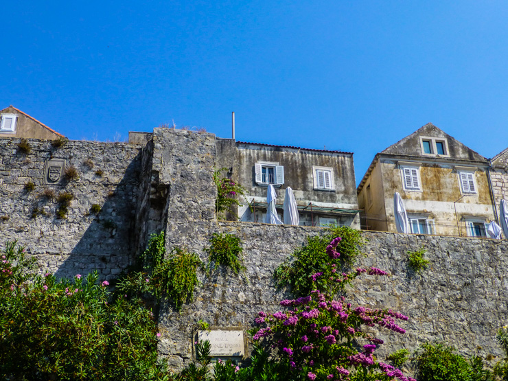 The walls of Korcula Town.