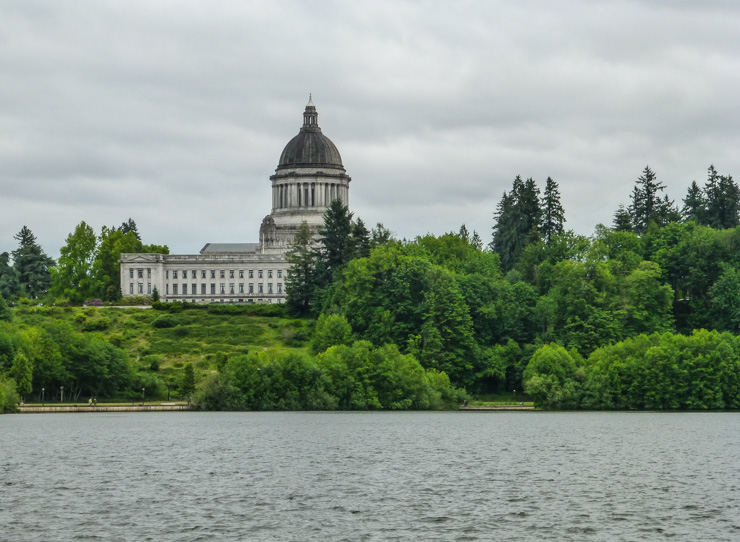 The capital building in Olympia, Washington.