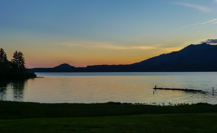 Sunset at Lake Quinault.