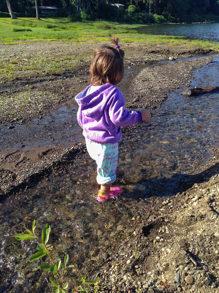 Playing in streams by Lake Quinault.