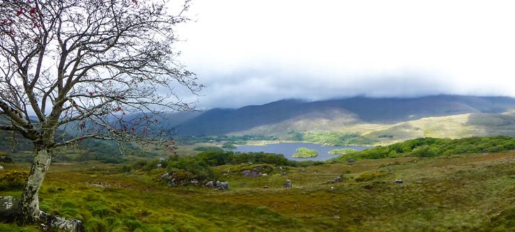 A side angle of Ladies View in Killarney