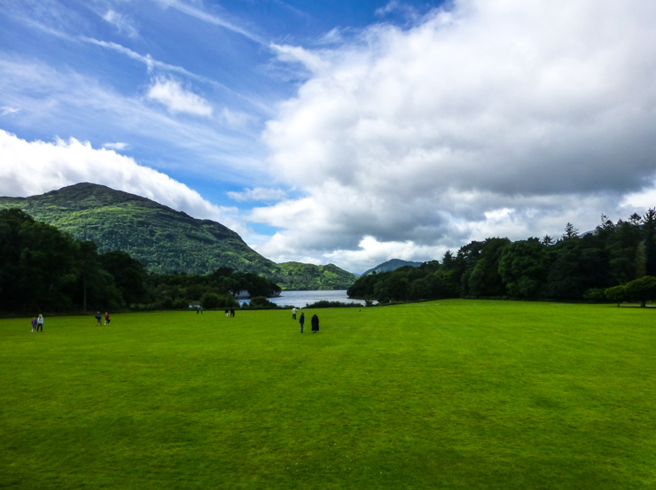 Green lawn at Muckross House in Killarney, Ireland