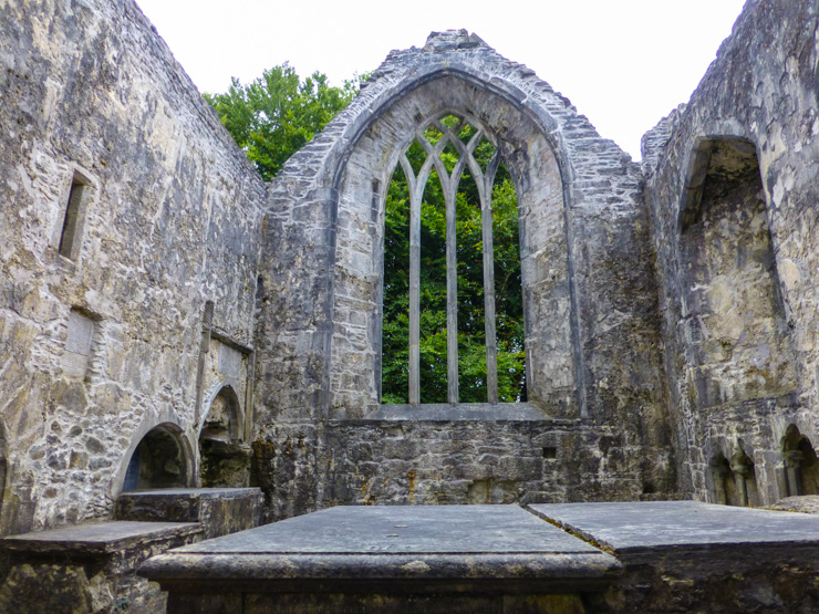 Muckross Abbey in Killarney, Ireland