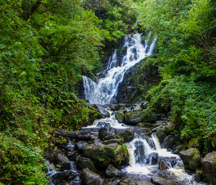 Torc Waterfall in Killarney, Ireland