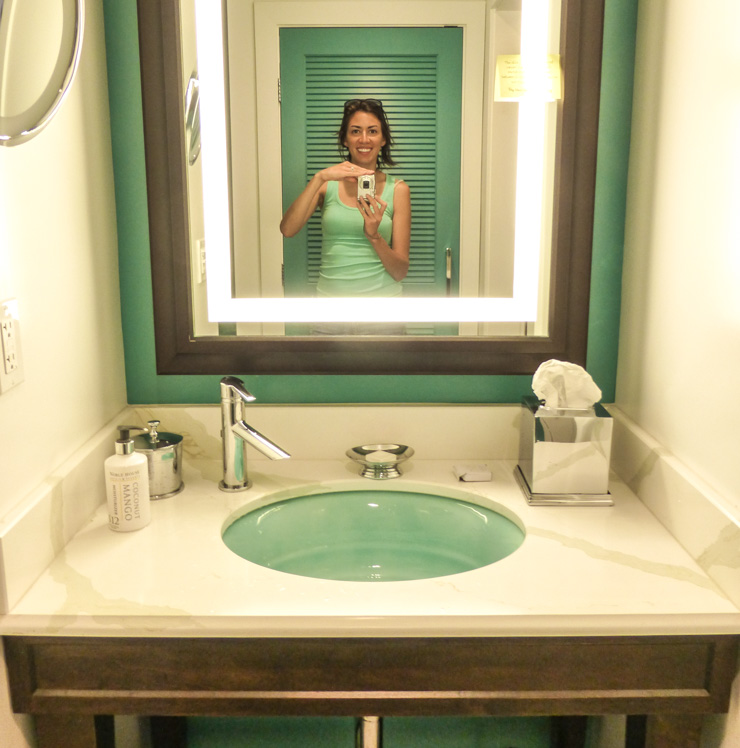 I even matched the room. I obviously love turquoise!