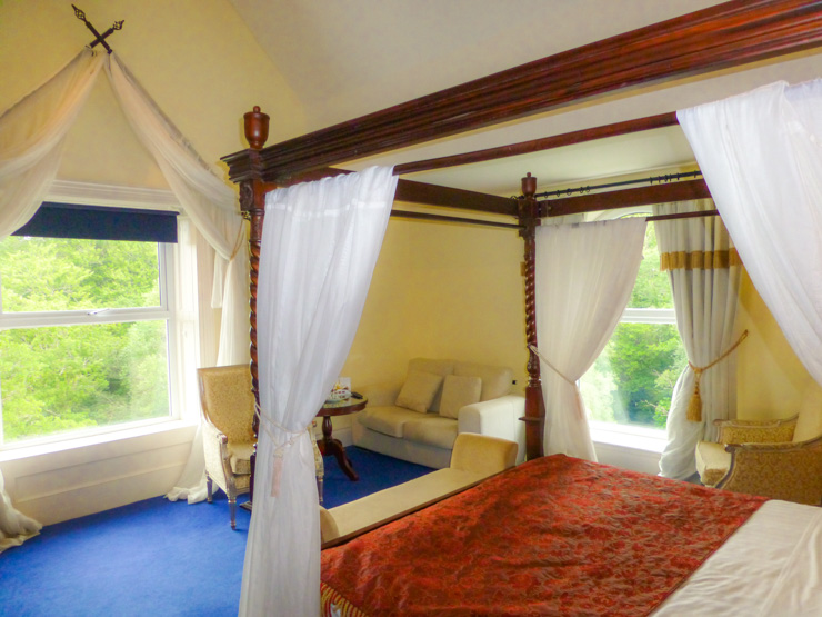 A room fit for a princess at Muckross Park Hotel