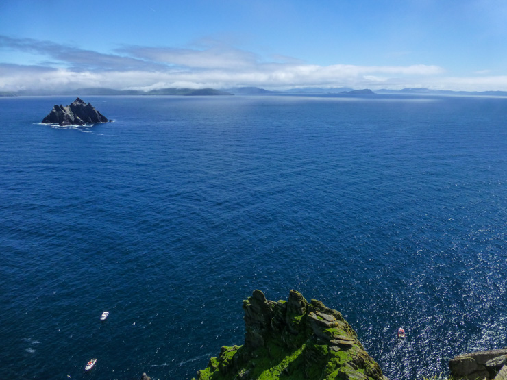 Clear, blue skies and sunshine in July at Skellig Michael and the Ring of Kerry.