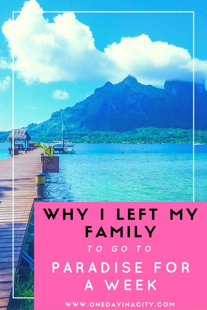 After becoming parents, vacation time can feel even more limited…so what happens when a once in a lifetime solo travel opportunity comes up? Here's what happened when I left my husband and daughter at home to fly to French Polynesia for a week, and what ended up happening as a result of my trip.