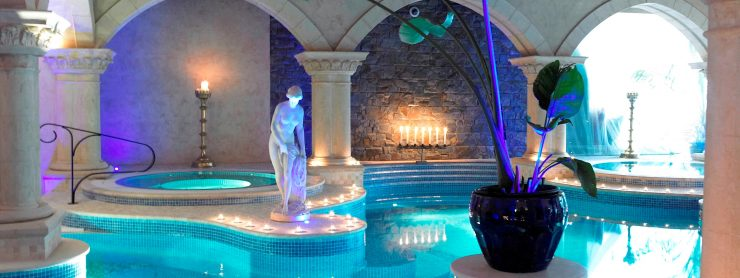 The spa pool at Muckross Park Hotel in Killarney, Ireland.