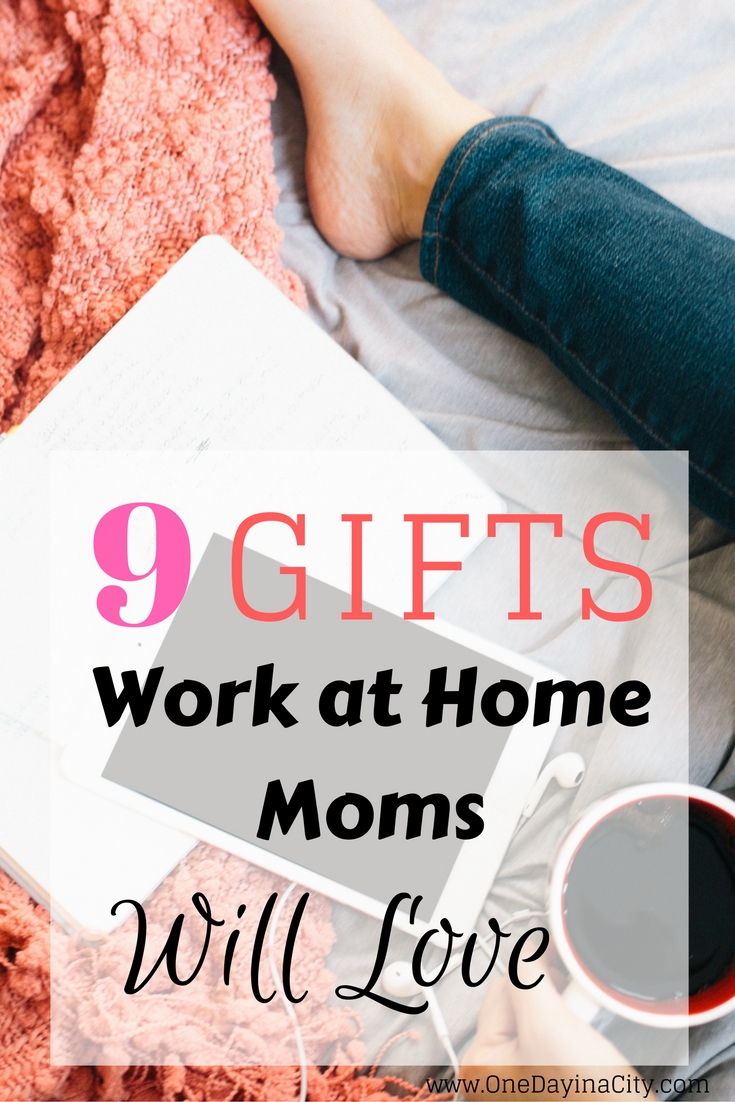 Gift ideas for the mom who works at home and is trying to balance a career and home life and who deserves to be pampered! This gift guide is put together by a work at home mom and has practical and pampering ideas for what to give a special mom in your life.