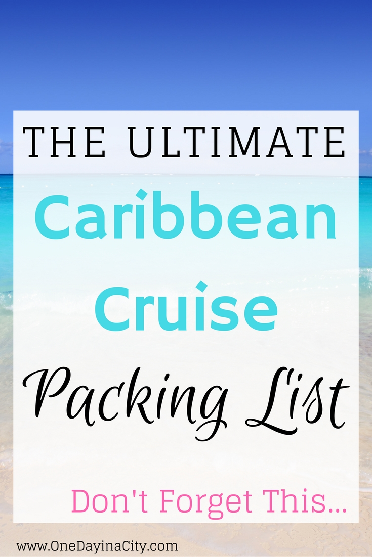 What to pack for a Caribbean cruise. This ultimate caribbean cruise packing list will keep you dressed with the right products to cover you on your cruise from pool time to days in port to formal nights and more.