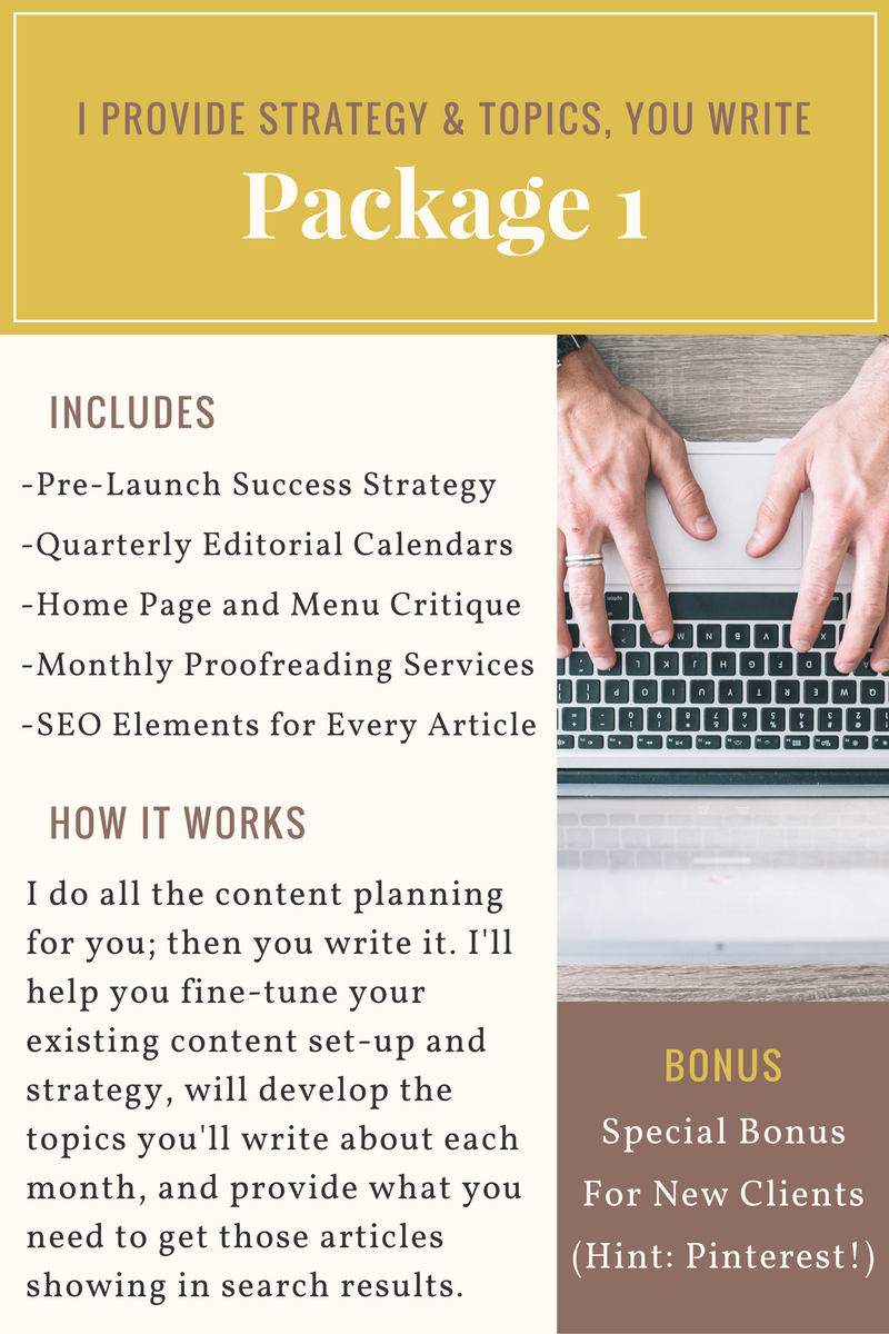 Blog Strategy from a Content Expert covering editorial calendars, SEO, menu categories, and much more.