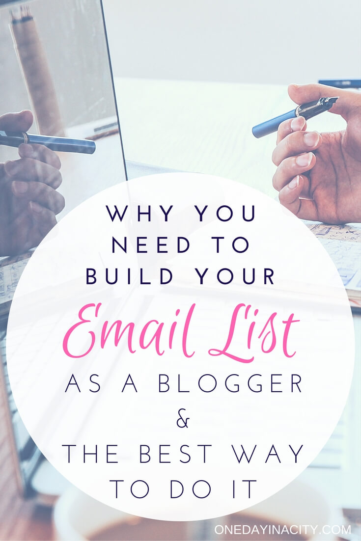 If you're a blogger, one of the most important things you should be doing is strategically growing your email list. This post lists the reasons why and the best way to do it. Hint: Convertkit!