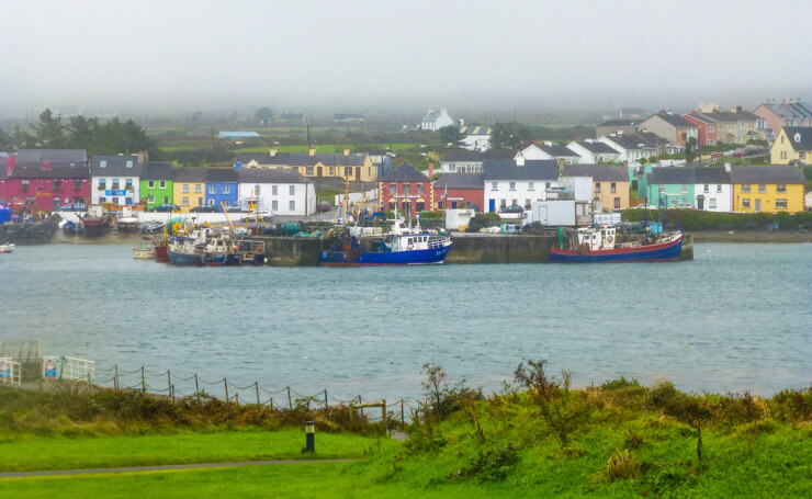 View of Portmagee from Valentia Island