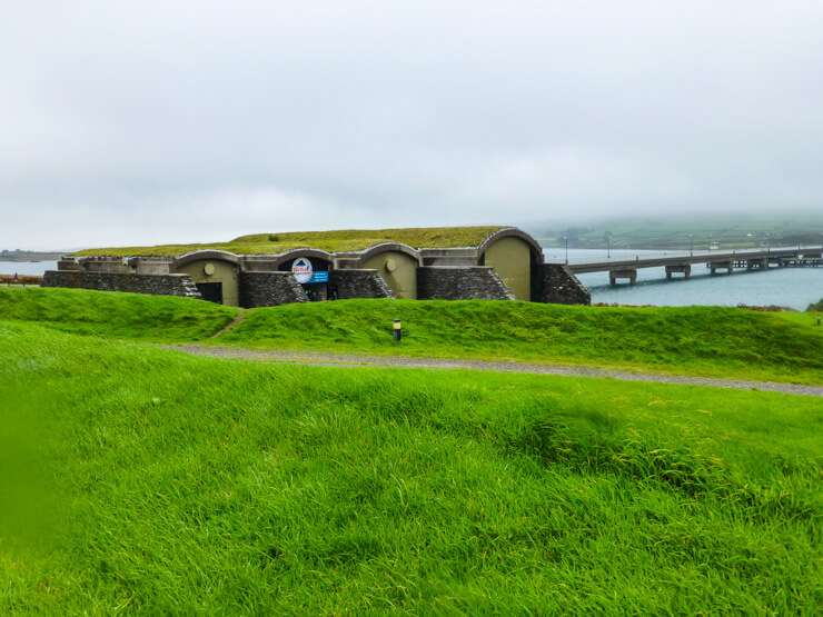 Skellig Michael Museum, shaped like beehive huts.