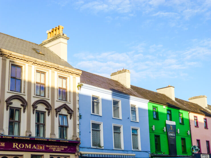 I loved the big Guinness on this green building in Kenmare, Ireland along the Ring of Kerry.