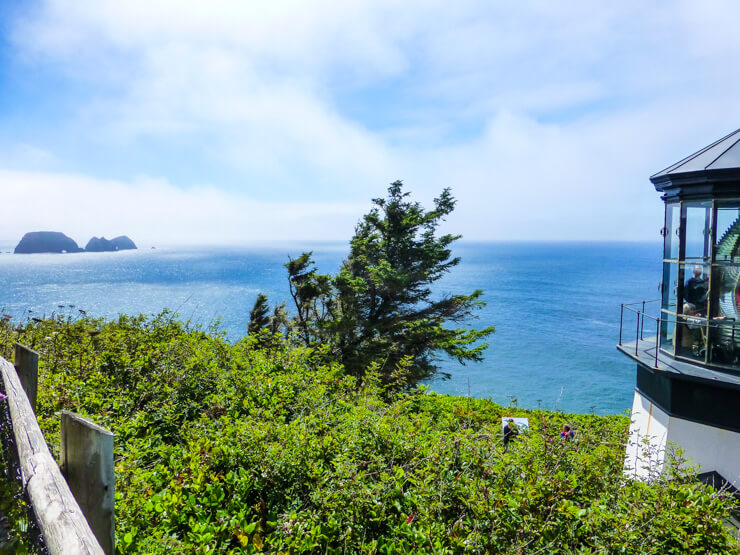 Beautiful ocean views from Cape Meares Lighthouse.