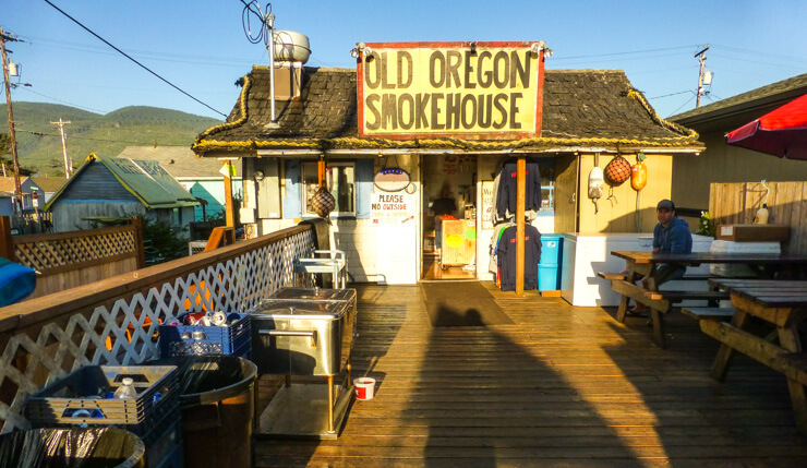 Eating at Old Oregon Smokehouse is one of the top things to do in Rockaway Beach Oregon