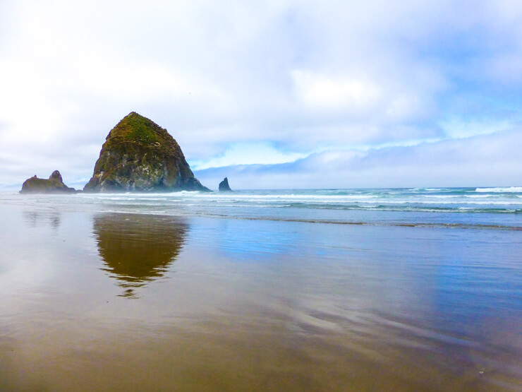 Haystack Rock in Cannon Beach, Oregon: A great stop during an Oregon beach vacation.