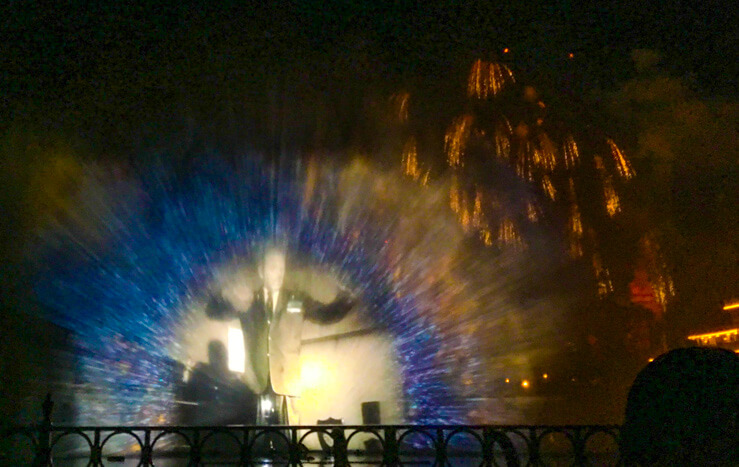 World of Color Firework Show in Disneyland
