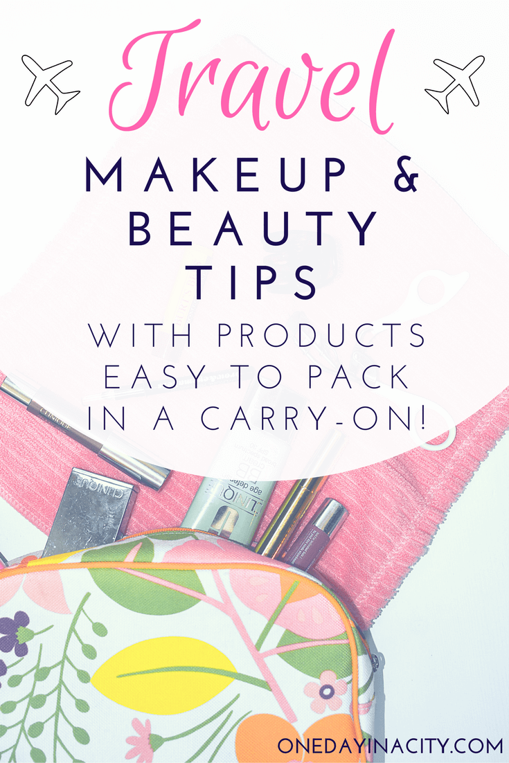 Travel Makeup Guide: A list of the makeup and beauty products I travel with plus my beauty routine while traveling.