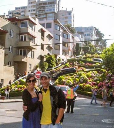 Standing In Front Of Lombard Street San Francisco