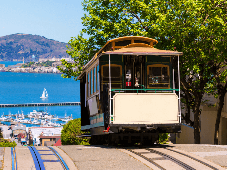 Iconic Cable Car In San Francisco