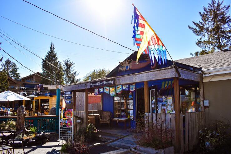 Mermaid Tales Bookshop in downtown Tofino