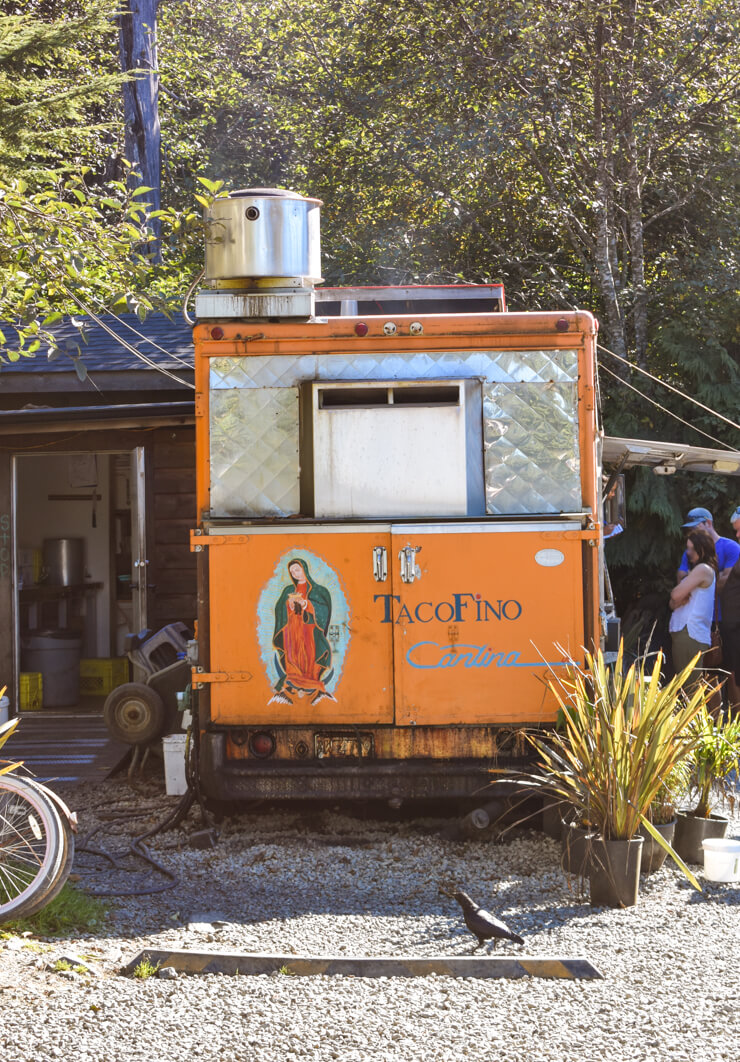 Tacofino food truck in Tofino