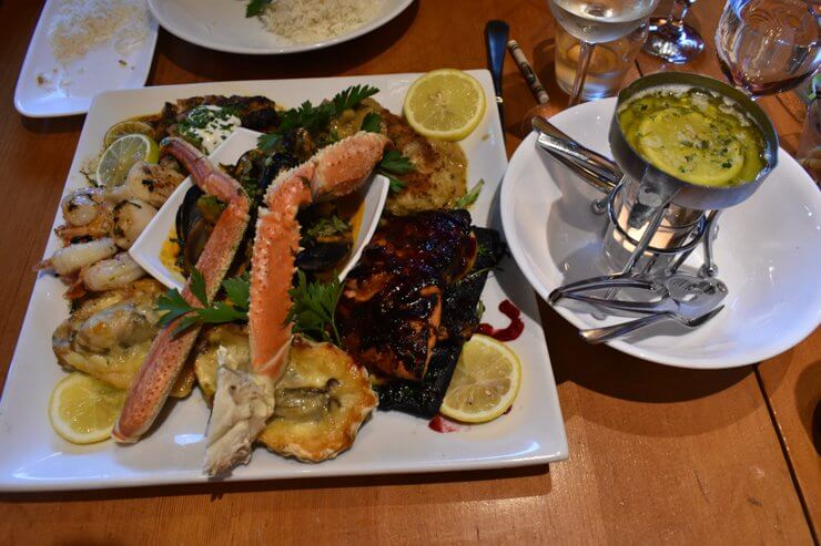 Seafood platter at Schooner Restaurant. So. Much. Food. So. Good. Tofino, Vancouver island.