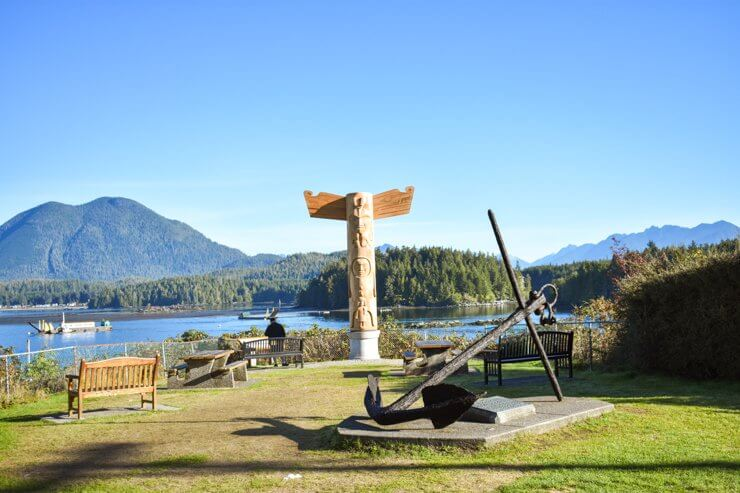 Totem poles in Tofino