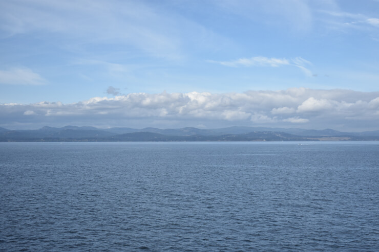 Port Angeles seen from the ferry to Victoria, Vancouver Island