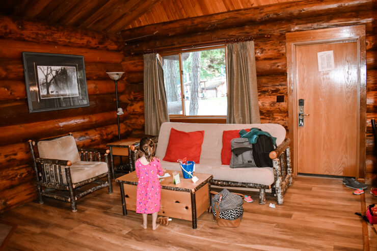 Quaint living room in our quaint cabin at Tigh-na-mara in Parksville, British Columbia