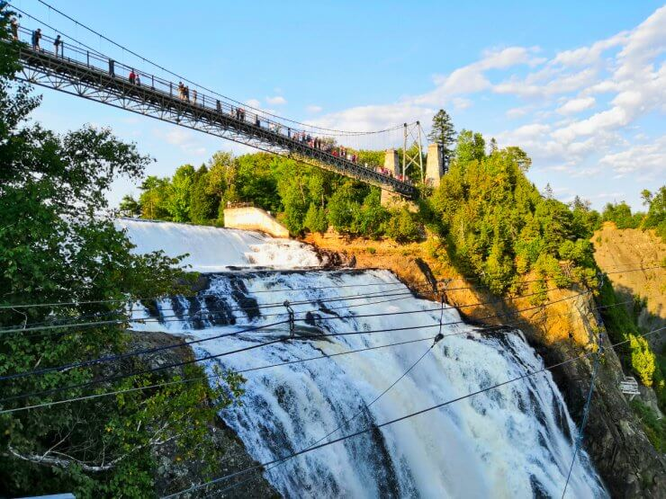Montmorency Falls is a must-do if you have just one day in Quebec City