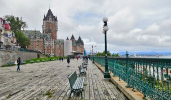 Terasse Dufferin is a perfect spot to start your one day in Quebec City