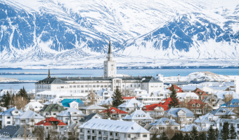 Skyline view of Reykjavik: How to spend on day in Reykjavik, Iceland.