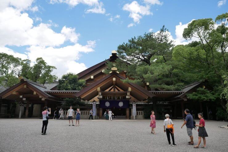Atsuta Jingu Shrine in Nagoya, Japan