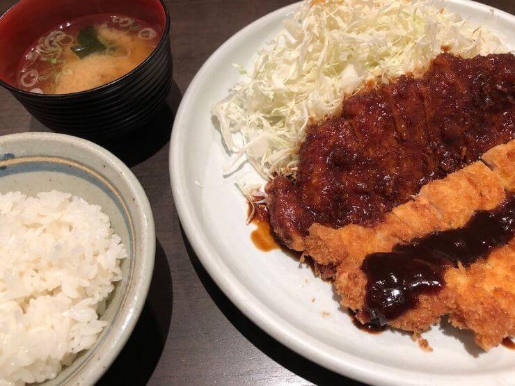 Miso Katsu Half and Half Misokatsu Yabaton Nagoya