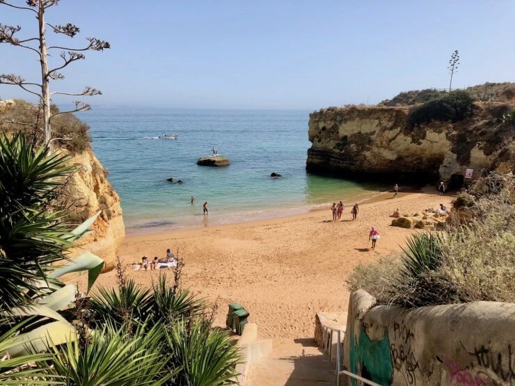 Beautiful beach and coastline in Lagos, Portugal