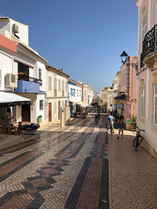 Pretty street in Lagos, Portugal