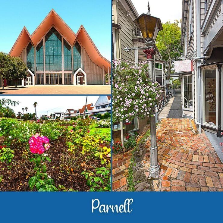 Quaint village of Parnell with its rose gardens and Trinity Church. Add this charming suburb to your Auckland itinerary.